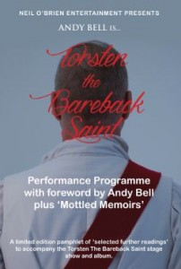 Andy Bell - Torsten The Bareback Saint 48-page Performance Programme