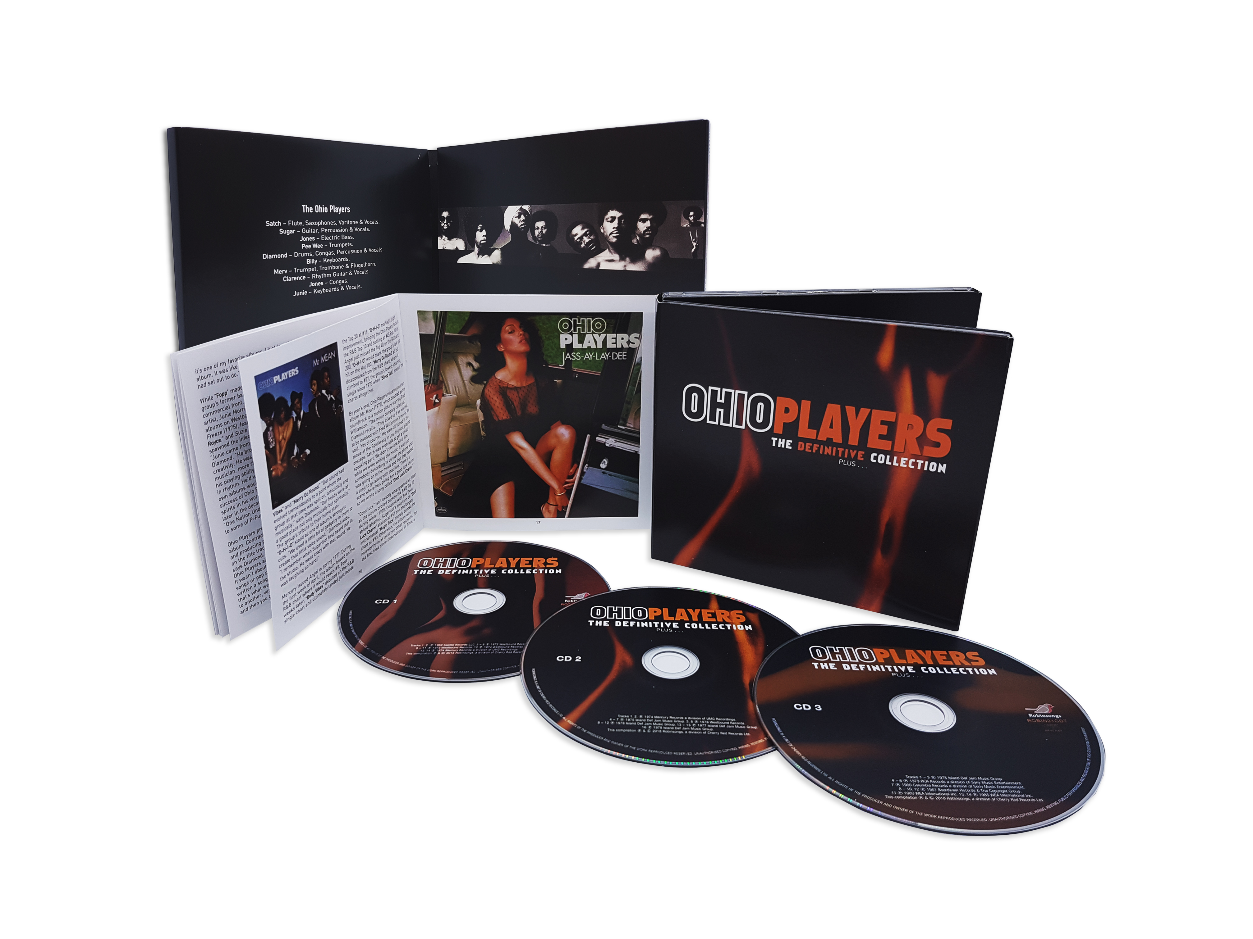 Ohio Players - The Definitive Collection   Plus   : 3CD Digipak
