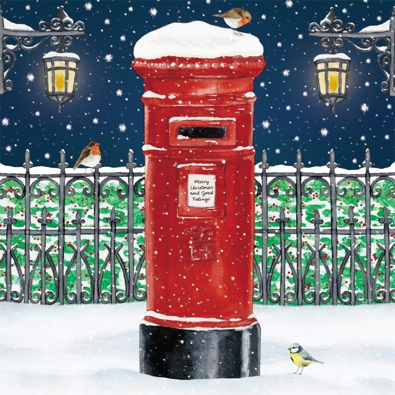 christmas-post-box-christmas-card-with-welsh-greeting-buy-3-packs ...