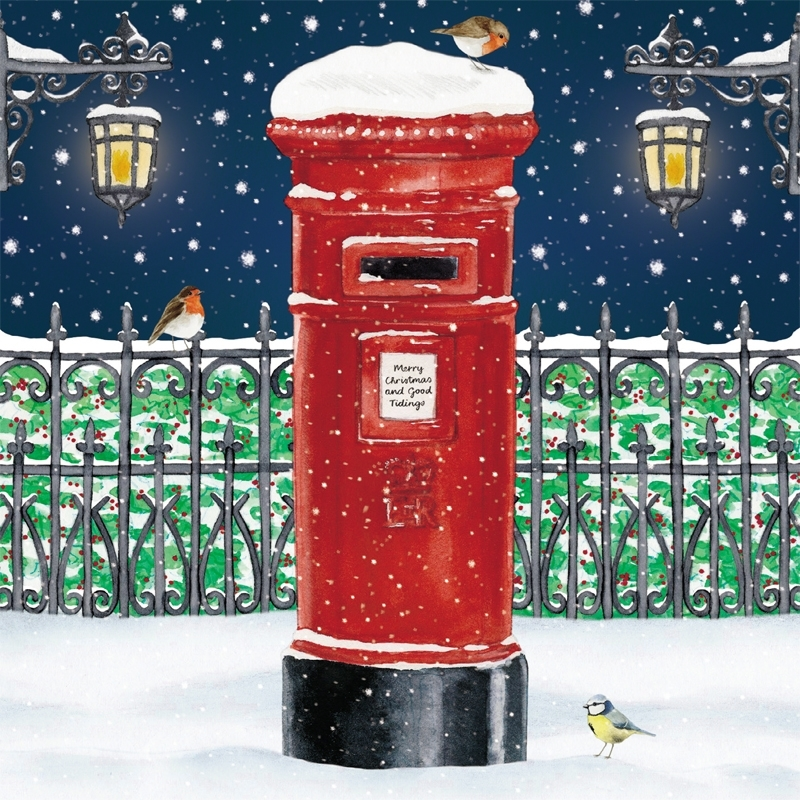 christmas post box christmas card with welsh greeting buy 3 packs for 1035_800 cherry red records - Where To Buy Christmas Cards