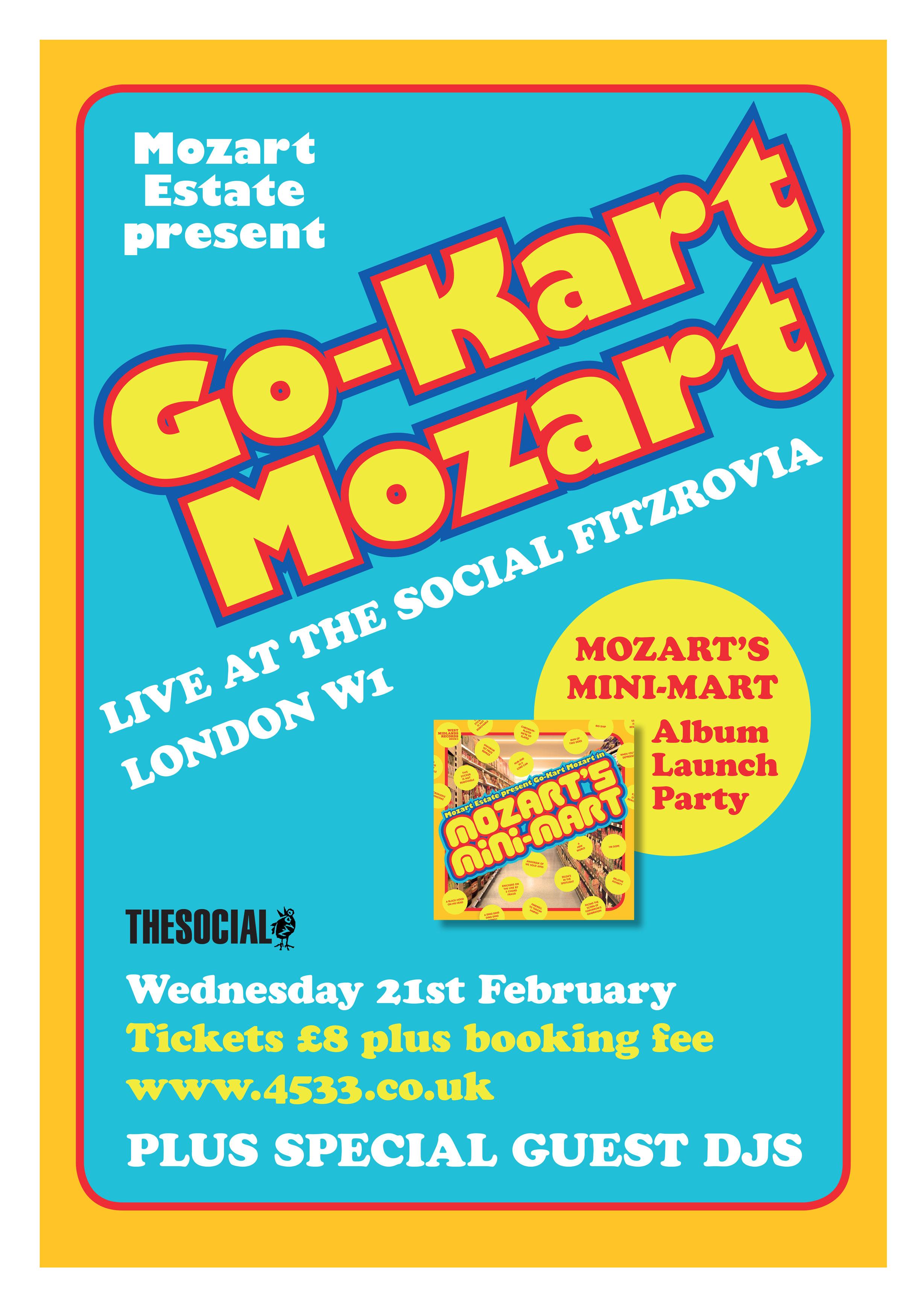 See Go Kart Mozart Play Live At The Mozarts Mini Mart Album Launch