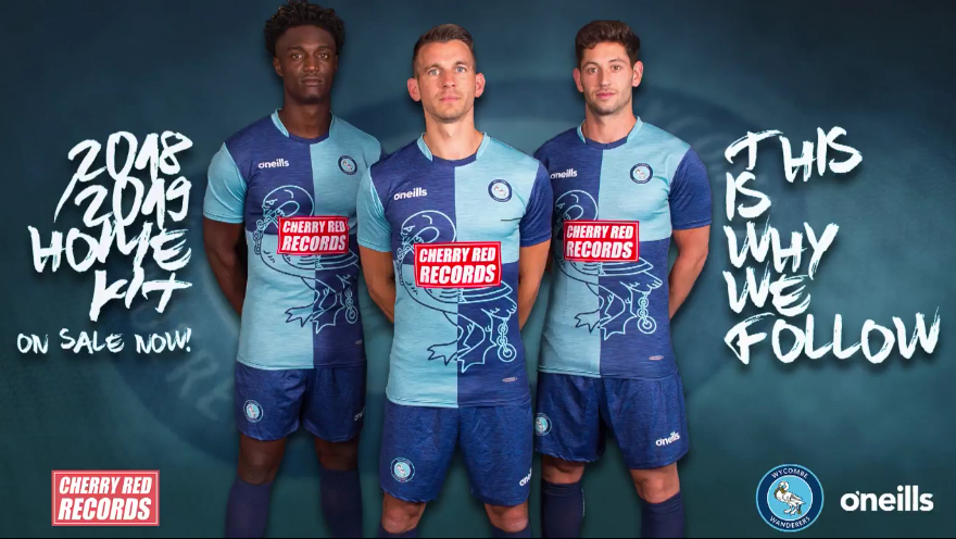 0d01d563cf2 Wycombe Wanderer s reveal their new Cherry Red sponsored home kit ...