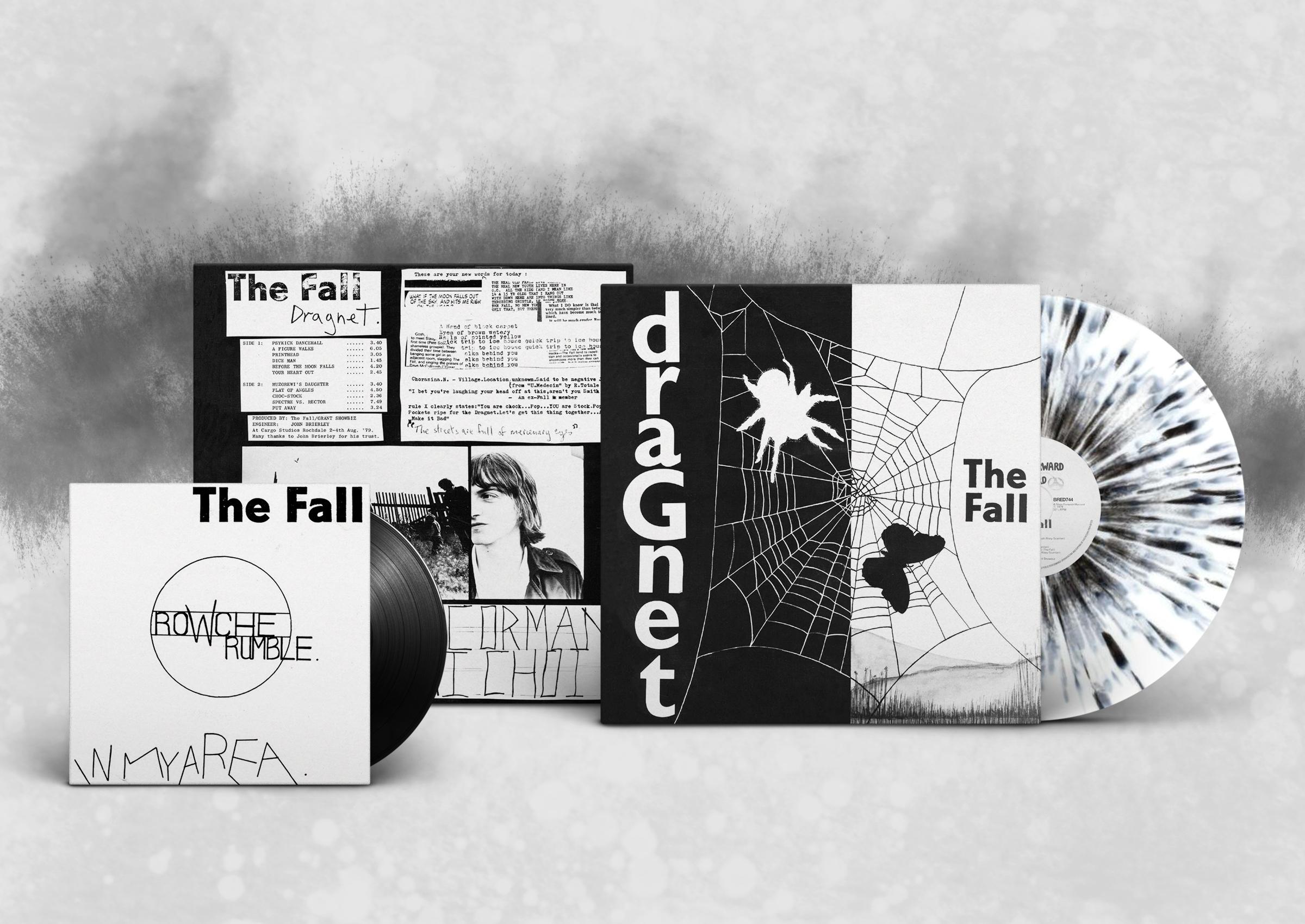 The fall dragnet limited edition black white splatter vinyl lp 7″ fall the