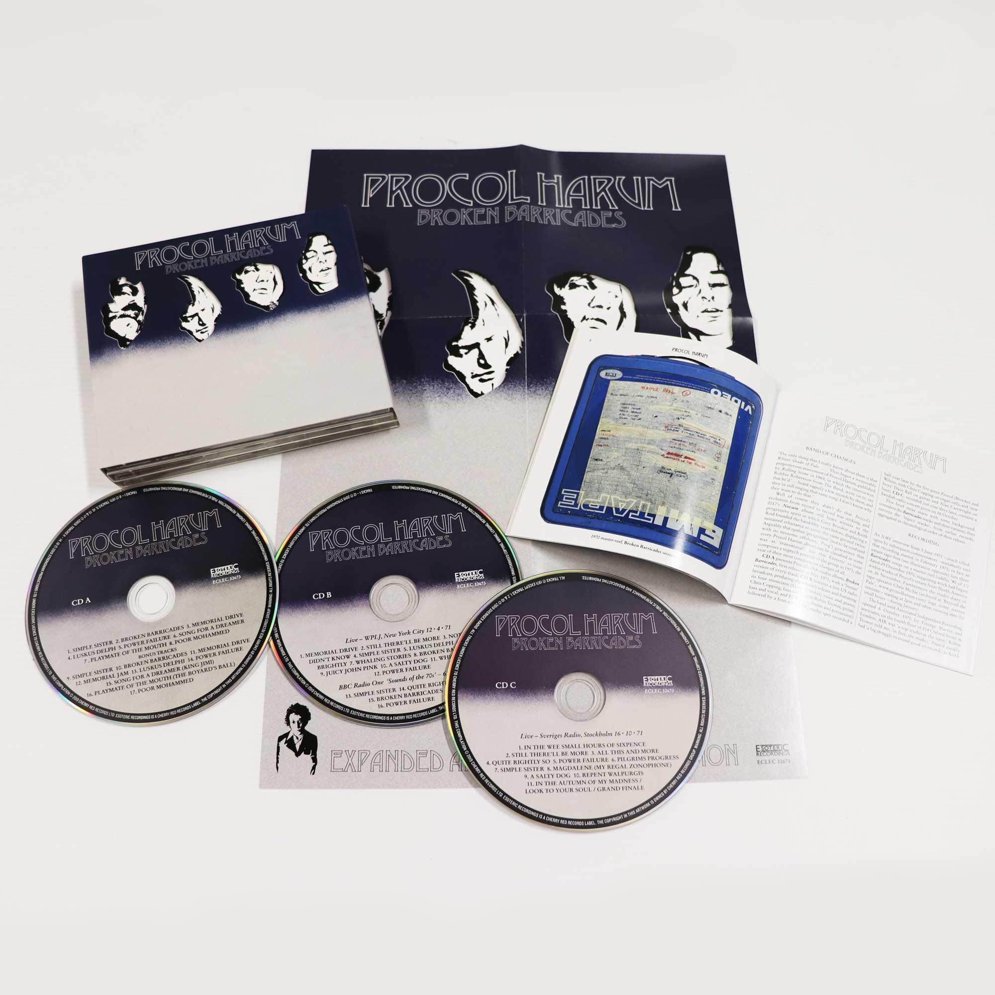 Procol Harum: Broken Barricades, 3CD Remastered & Expanded Boxset Edition