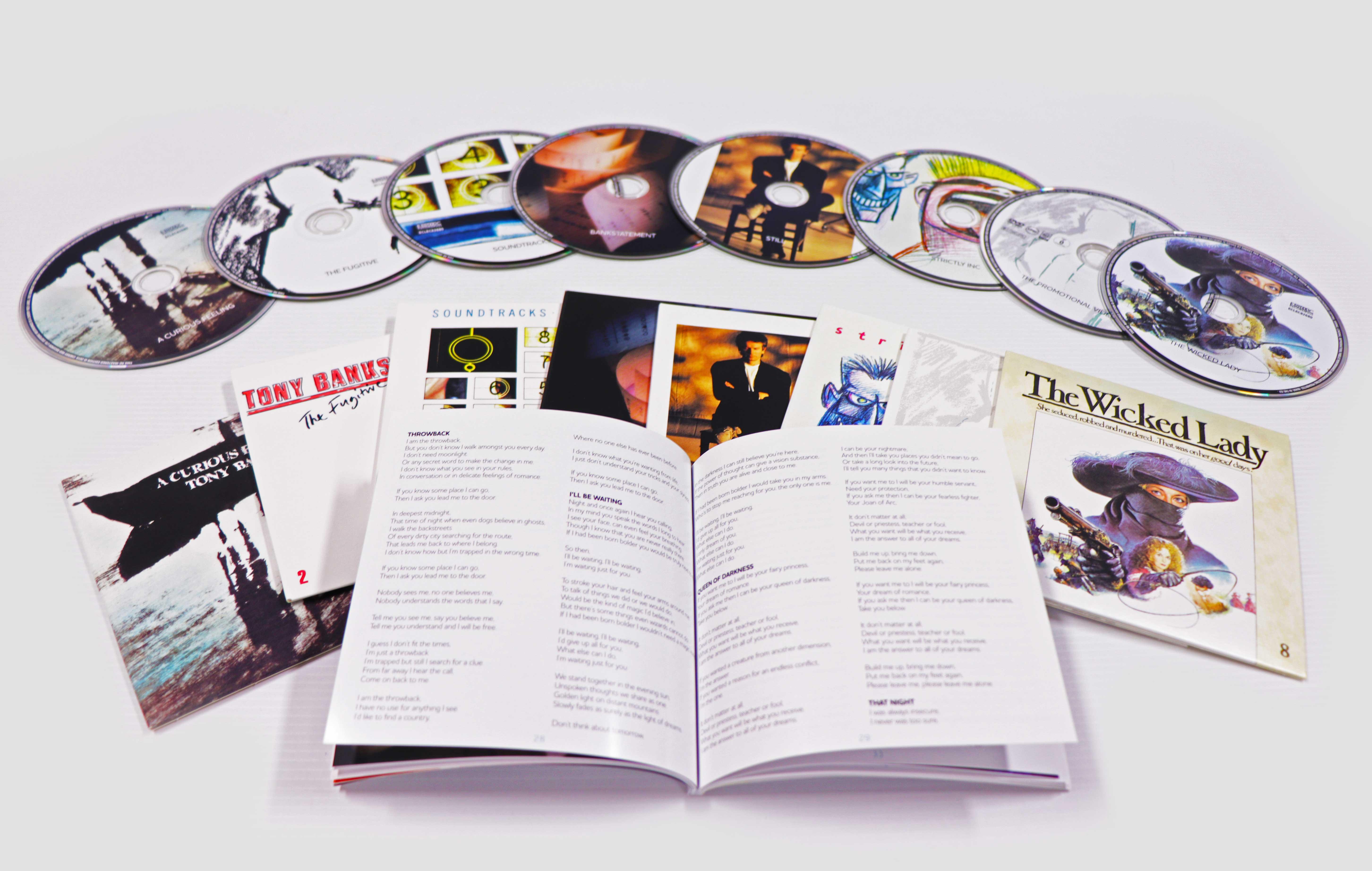 Tony Banks: Banks Vaults: The Albums 1979 - 1995, 8 Disc (7CD/1DVD) Boxset