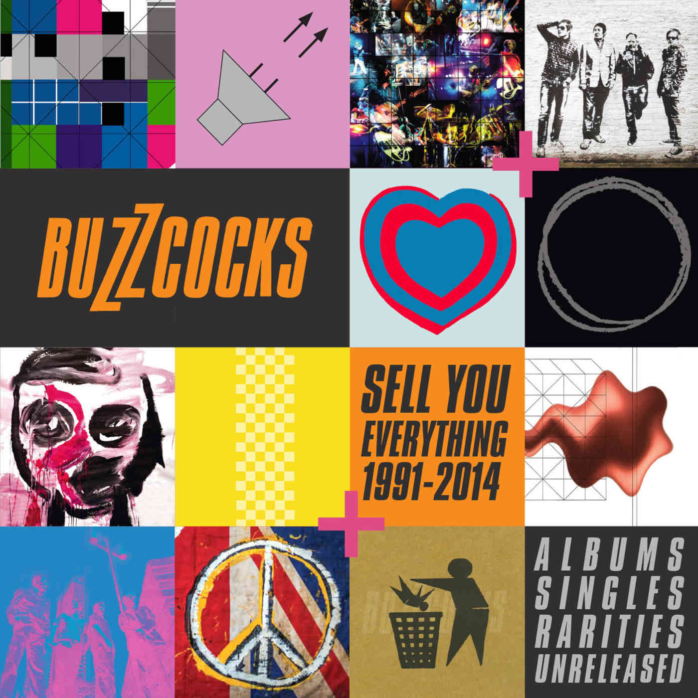 Buzzcocks: Sell You Everything (1991-2014) Albums, Singles Rarities, Unreleased, 8CD Boxset - Cherry Red Records