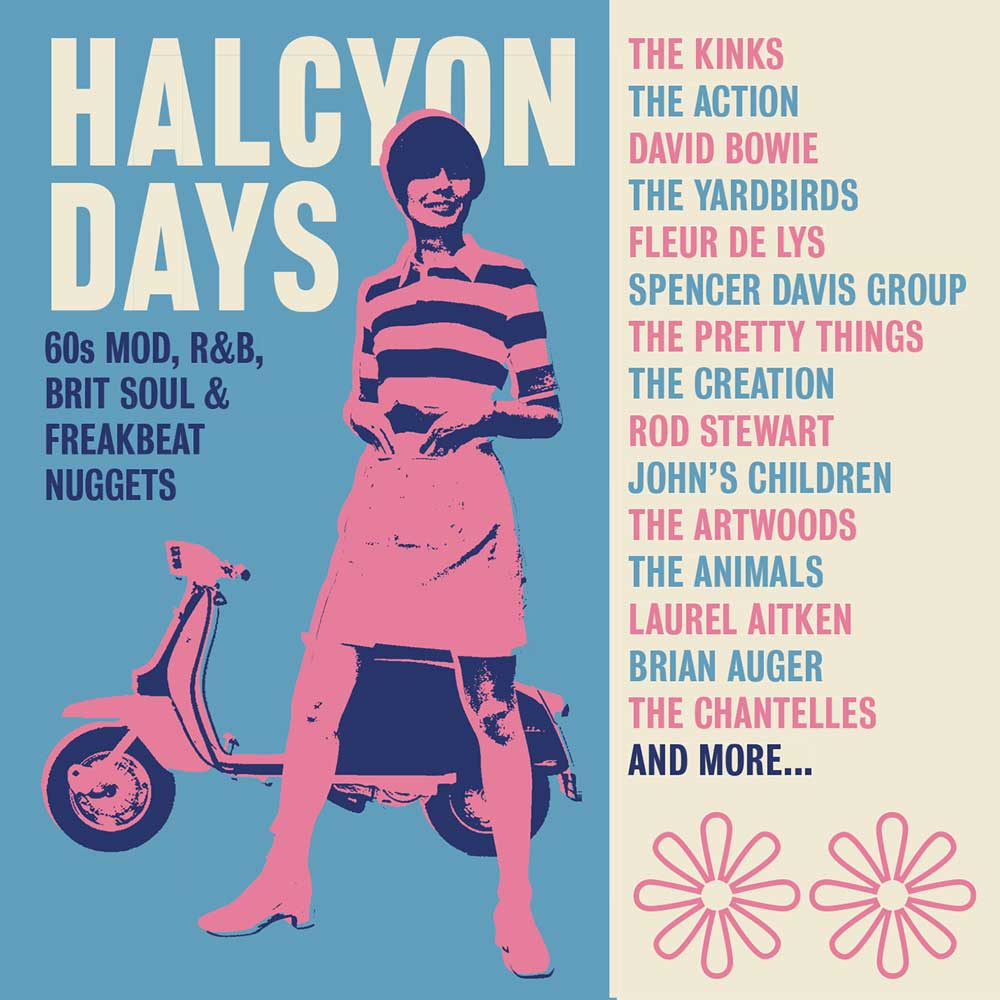 Halcyon Days: 60s Mod, R&B, Brit Soul & Freakbeat Nuggets - Various  Artists, 3CD Box Set - Cherry Red Records